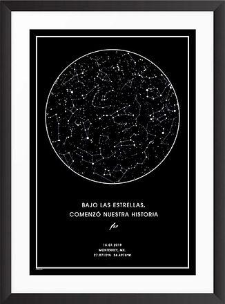 Enmarcado de mapa estelar negro saltillo