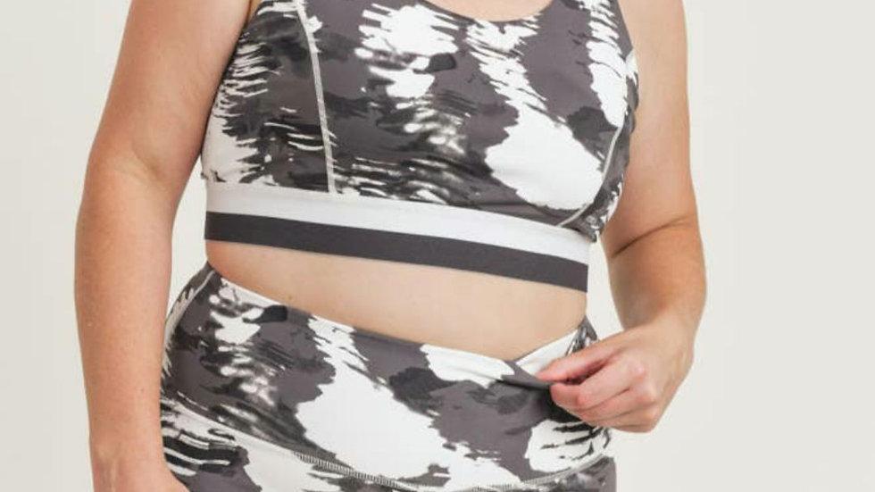Cloud print sports bra