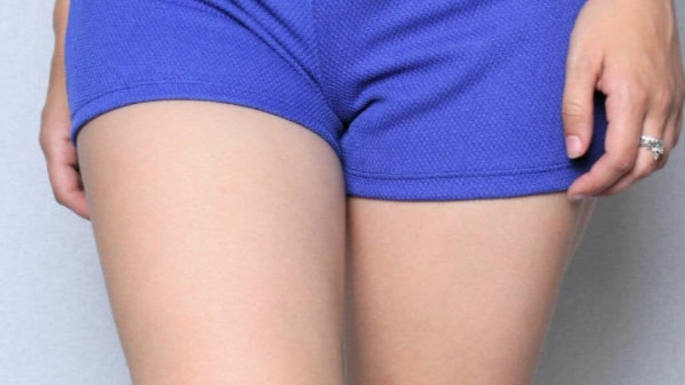 Zippered textured shorts