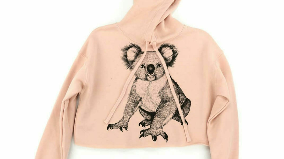 Koala Crop Hoodie