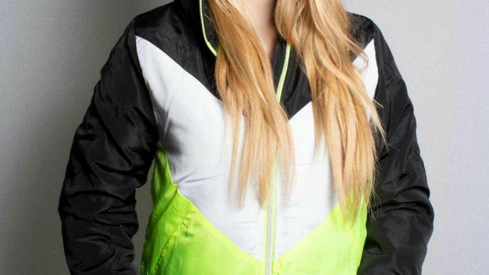 V- Neon Puff Jacket