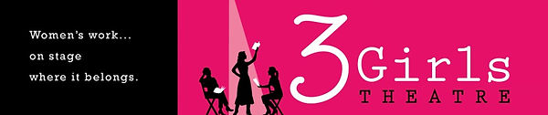 Logo for 3Girls Theatre, ReproRights where Lorraine Midanik's play Boy Imagined was performed in 2016.
