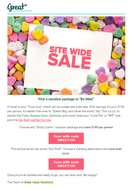 Subject Line: Treat yourself during our Site Wide sale!
