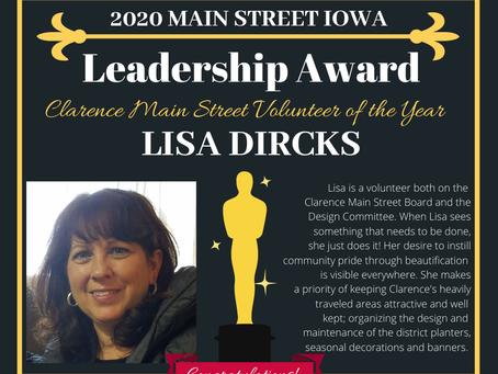Lisa Dircks Honored for Keeping Clarence Beautiful