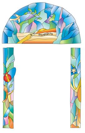הדמייה של ויטראז' באגף חדש במוזיאון הידידות.