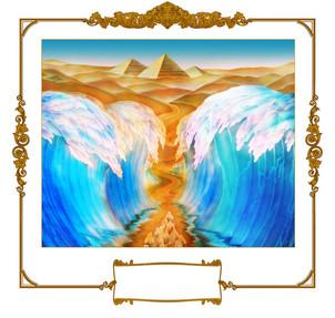 יציאת מצרים בהדפסה על זכוכית