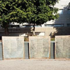 """שלטים של תורמים באוניברסיטת ת""""א"""