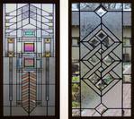 ויטראז'ים  בסגנון גיאומטרי בחלונות ויטראז'במשרדים