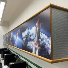 עיצוב וישום  בחדר מדעים וחלל של ארונית