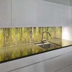 זכוכית קרמית במטבח