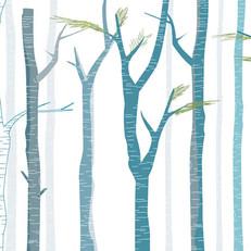 הדפס קרמי על זכוכית של יער טבעי