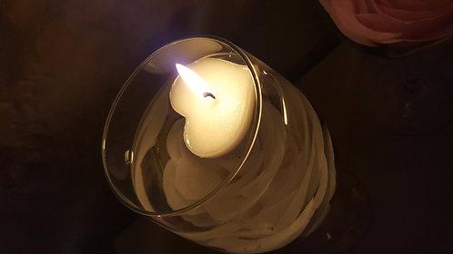 """Lot de 4 bougies flottantes """"Cœur"""""""