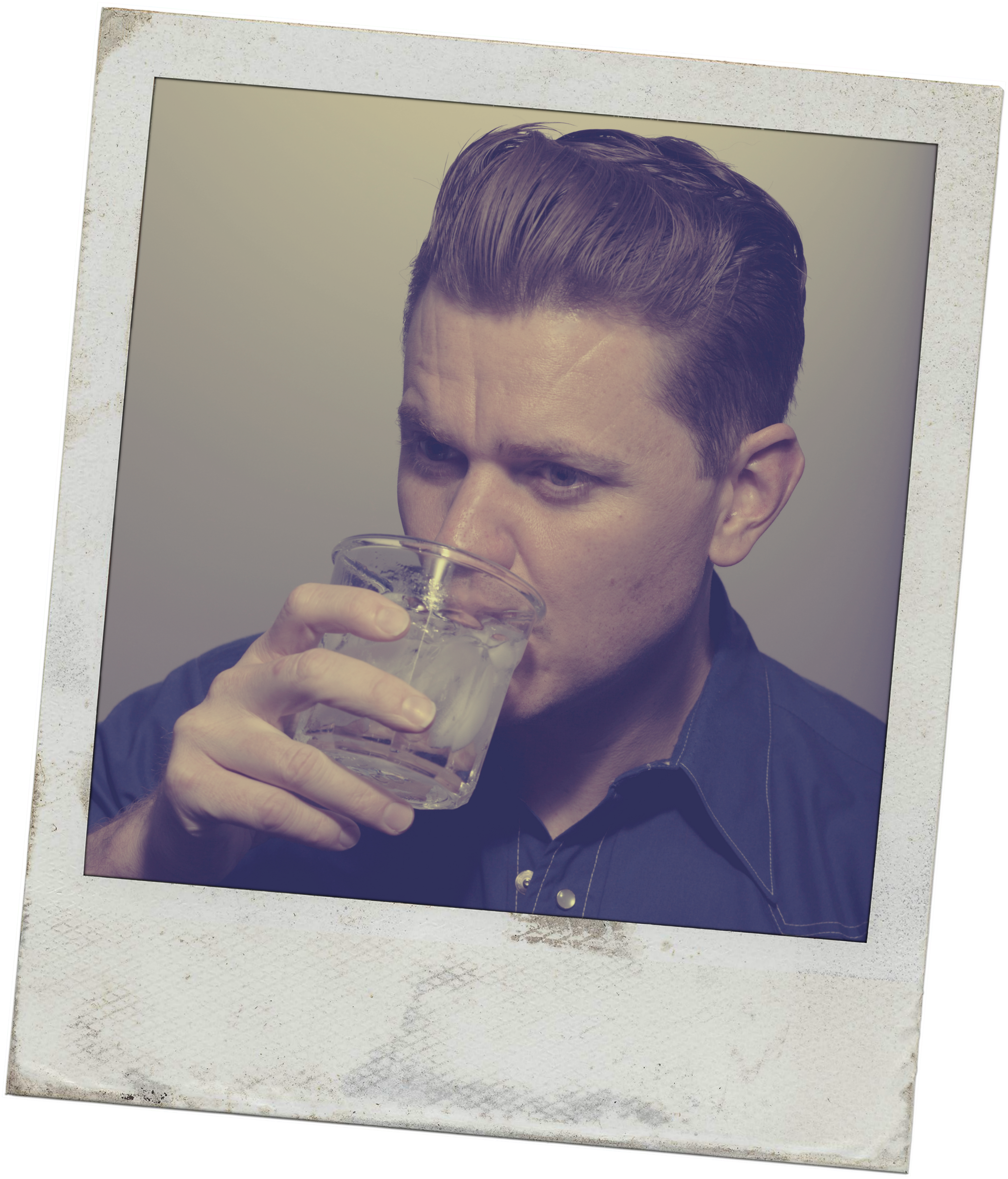 Vintage Drinking Poloroid