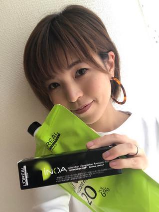 #iNOA 新しいカラー剤、しみないし、ツヤ出るし、色持ち良いです。