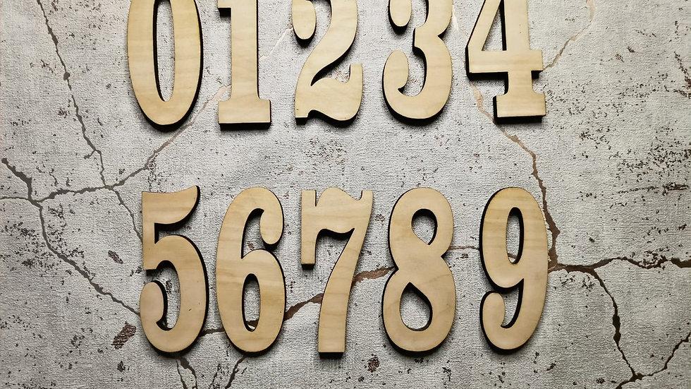 Craft Blanks - Numbers