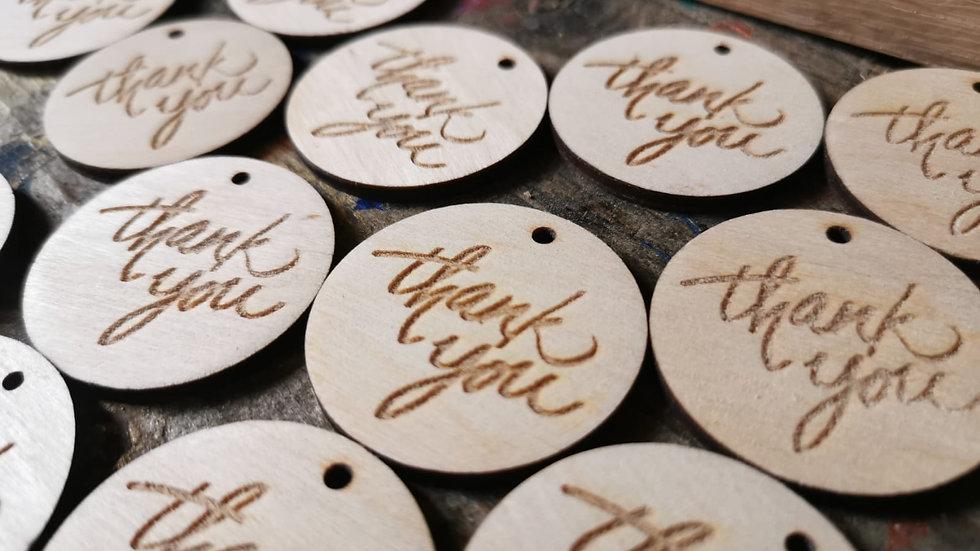 Laser Engraved Gift Tag