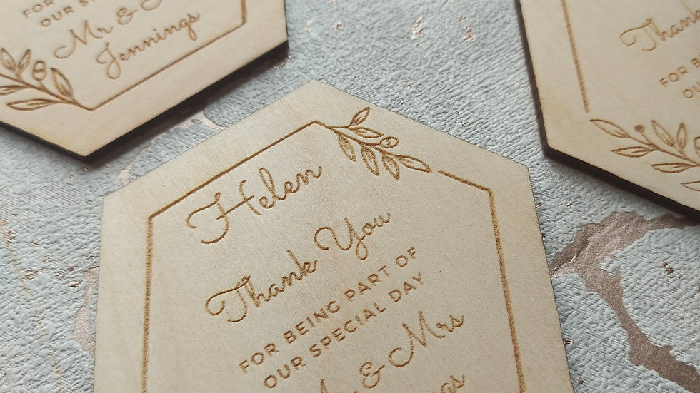 Personalised Wedding Favours/Place Settings