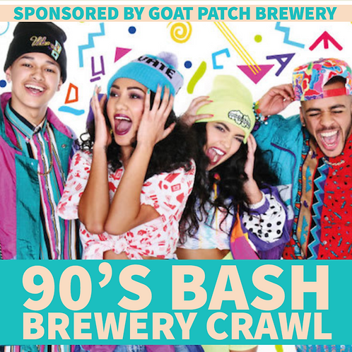 90's Bash Brewery Crawl - Fri. July 12th