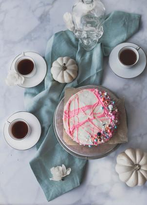 Spiderweb Sweet Potato Cake