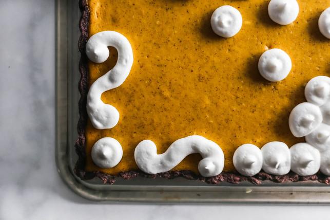 Smoked Chili Pumpkin Cheesecake Tart