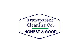 Transparent Cleaning Co. logo. Honest & Good.