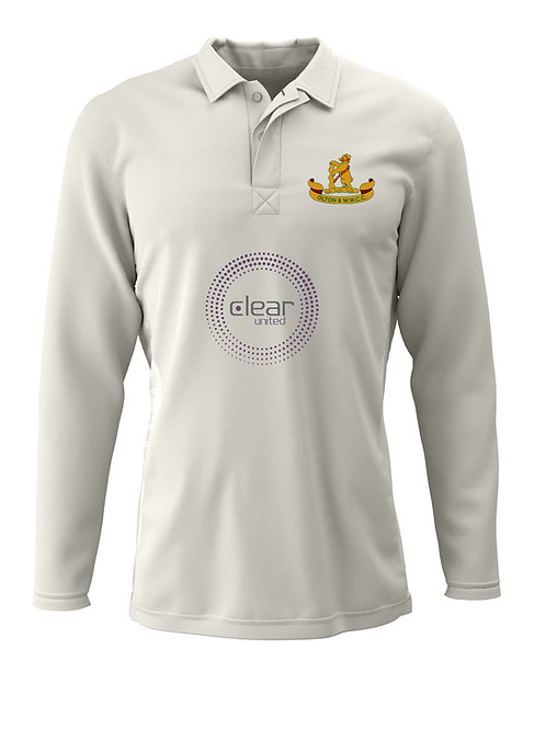 Cricket Shirt L/S (H2) Cream - Olton & WW CC