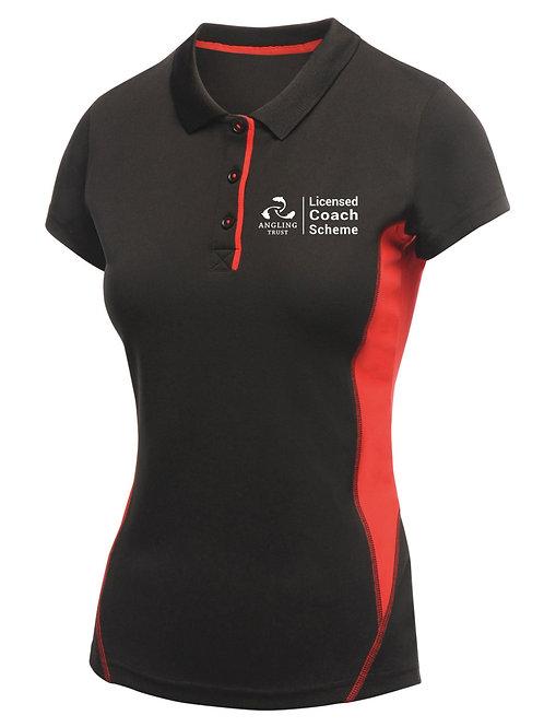 Polo Shirt, Women's Black/Red