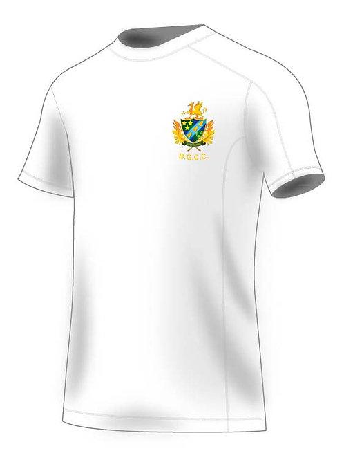 Tec T-Shirt (H787) White - Barnt Green