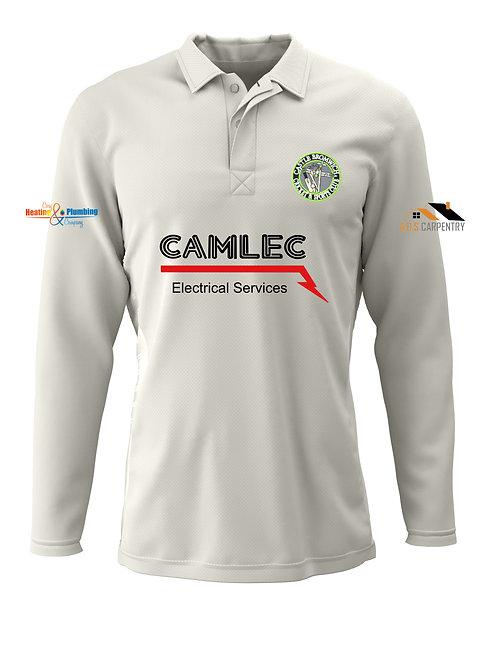Cricket Shirt L/S - Cream - Castle Bromwich CC