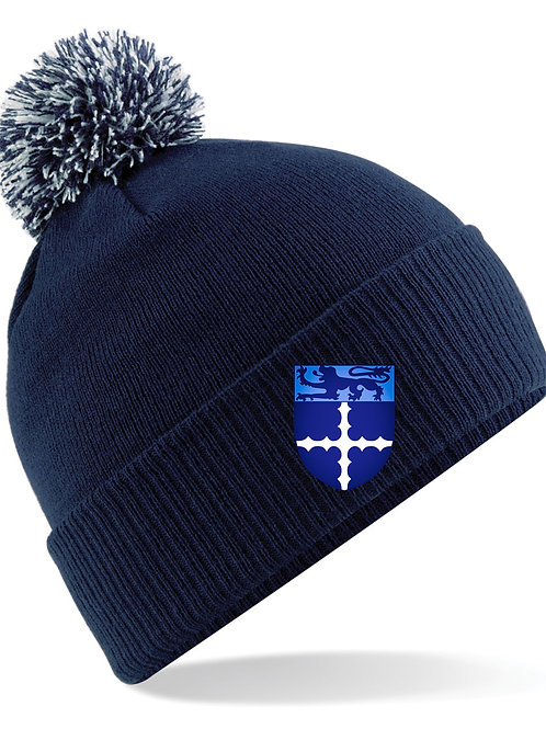Bobble Hat Junior Navy - Studley