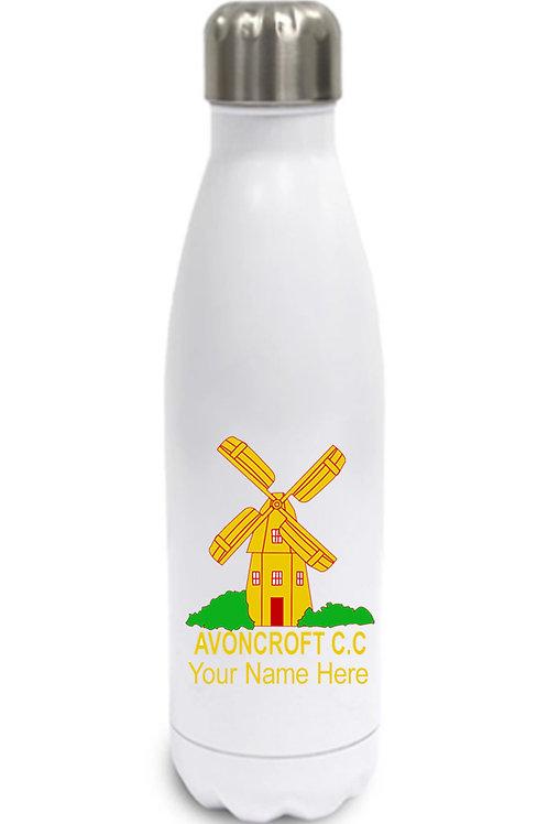 Water Bottle (inc name) White - Avoncroft