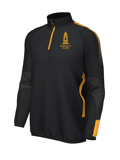 Pro Mid Layer 1/4 Zip (E868) -Black/Amber - Dumbleton
