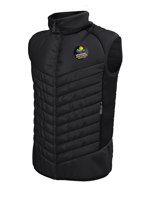 Padded Gilet (E870) Black - Birmingham Unicorns CC