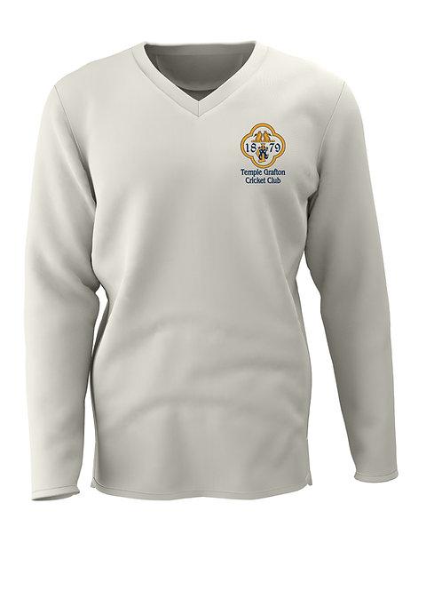 Cricket Sweater L/S (C7) Cream - Temple Grafton CC