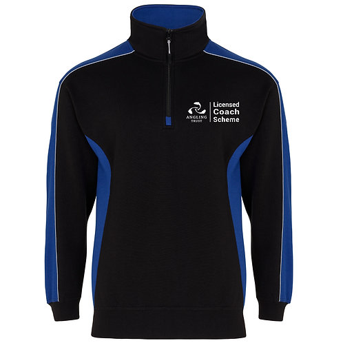 1/4 Zip Sweatshirt Navy/Royal (H1288) Angling Trust