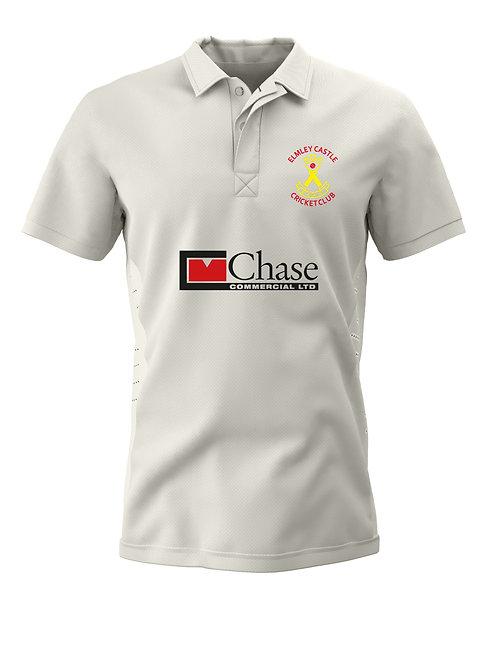 Junior Cricket Shirt (H1) - Cream - Elmley Castle CC