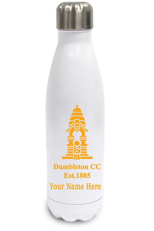 Aluminium Water Bottle (inc name) White -Dumbleton CC