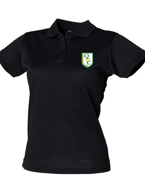 Ladies Fit Polo Shirt (HB476)  Black - Quatt CC