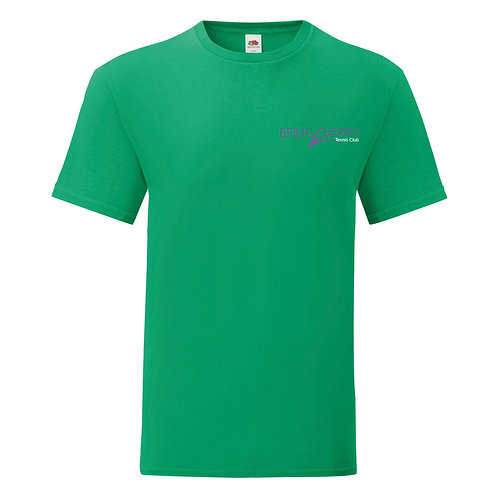 T Shirt Senior Cotton (61430) Kelly Green, Bridgnorth Tennis Club