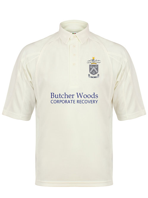 Cricket Shirt S/S (H1) Cream - Hagley CC
