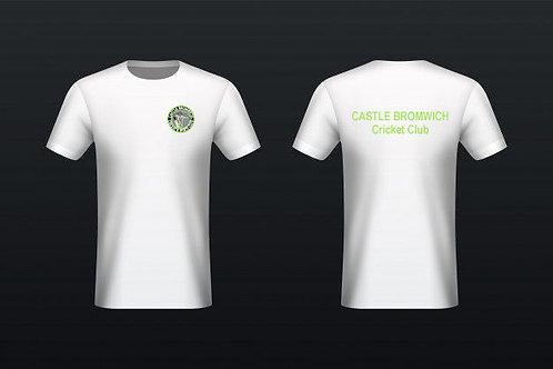 Tec Tee (H787) White - Castle Bromwich CC