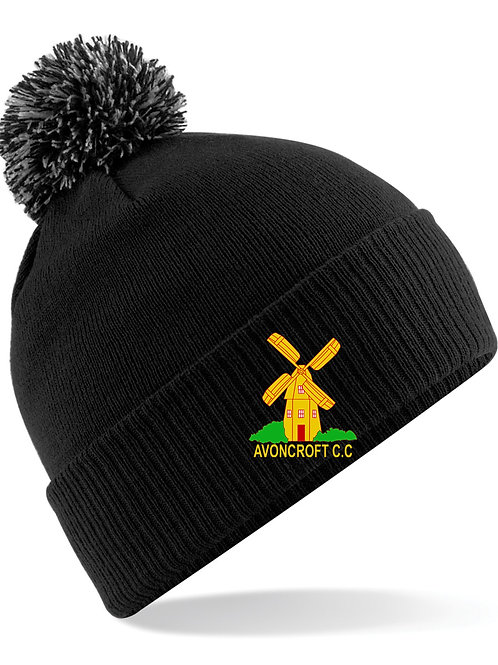 Bobble Hat (B450) - Black - Avoncroft