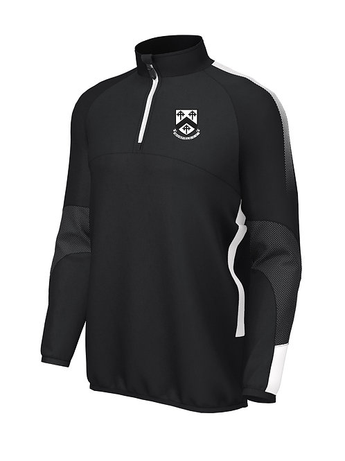 Pro Mid Layer 1/4 Zip (E868) Black/White - Worfield
