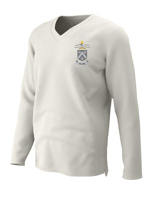 Cricket Sweater L/S (C7) Cream - Hagley CC