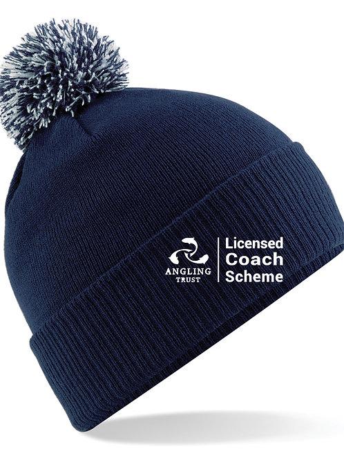Ski Hat with Pompom Navy (B450) Angling Trust