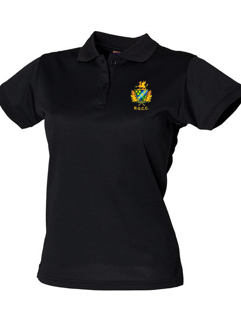 Ladies Polo Shirt (HB476) Black -Barnt Green