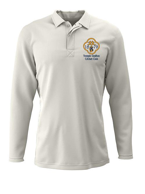 Cricket Shirt L/S - Cream - Temple Grafton CC