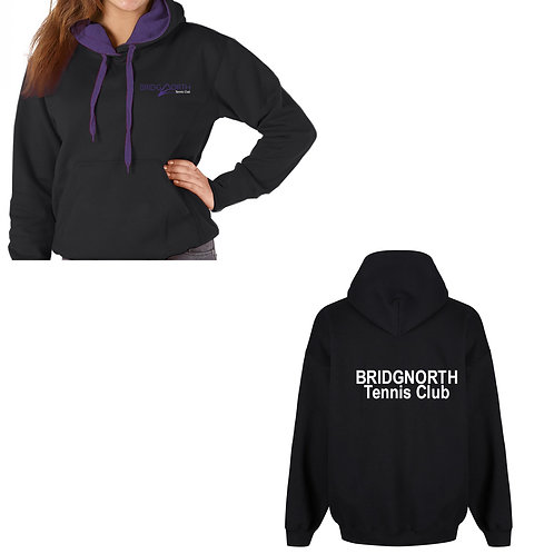 Hoodie Senior, Black/Perple (RK25) Bridgnorth Tennis Cluc