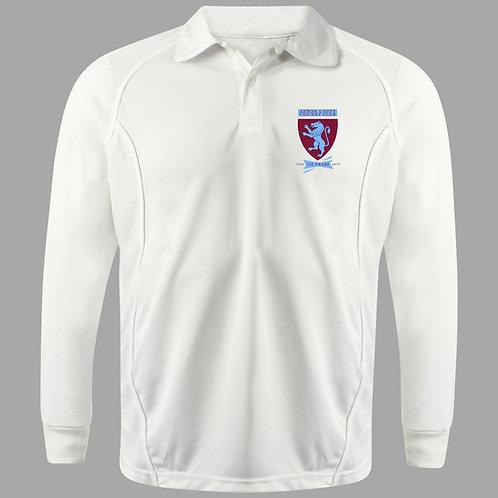 Cricket Shirt L/S (H2) Cream - Aston Unity