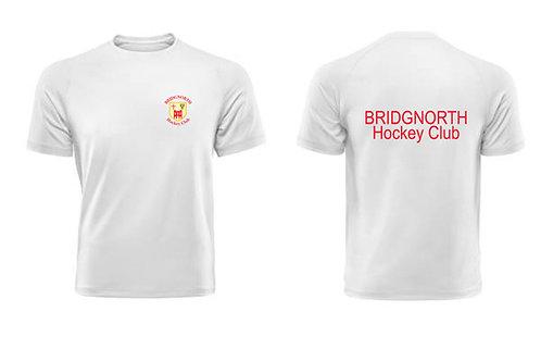 T-Shirt- White (H787) Bridgnorth Hockey